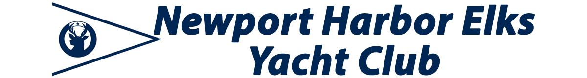 Newport Harbor Elks Yacht Club and burgee