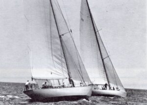 2 starboard tack boats - Cal Cup