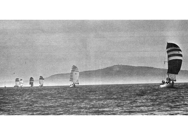 Downwind sailboats with coast