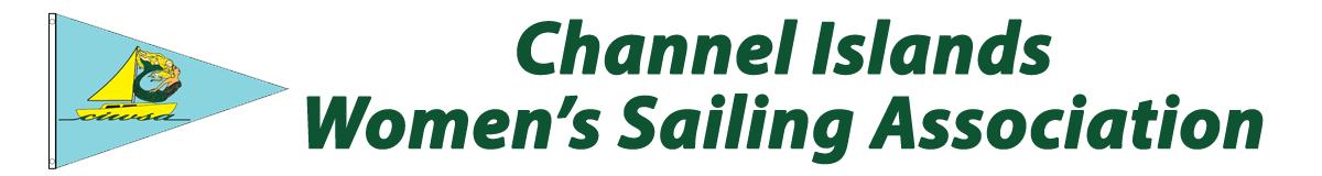 Channel Islands Women's Sailing Association and Burgee