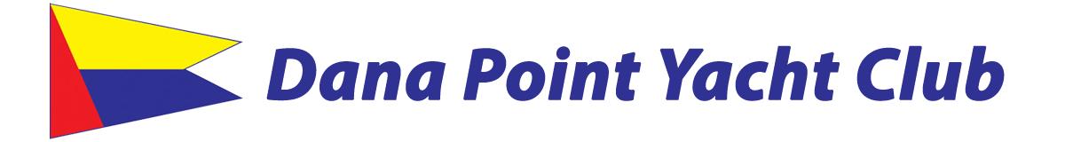 Dana Point Yacht Club and burgee