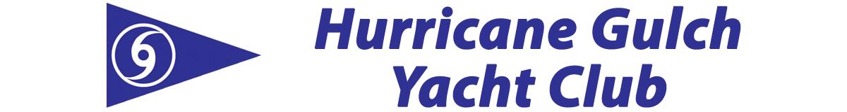 Hurricane Gulch Yacht Club and burgee