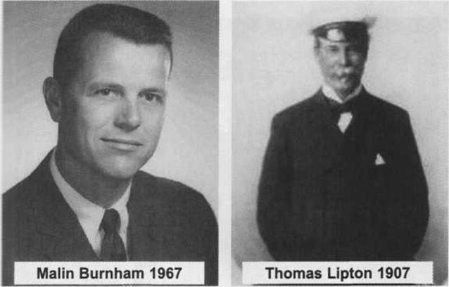 Malin Burnham and Sir Thomas LIpton