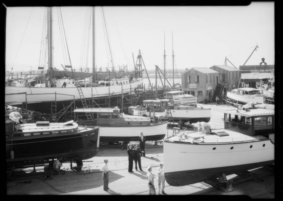 the boat yard in 1934